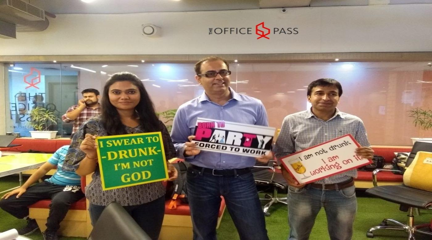 Winners of a community event hosted at The Office Pass, Gurgaon