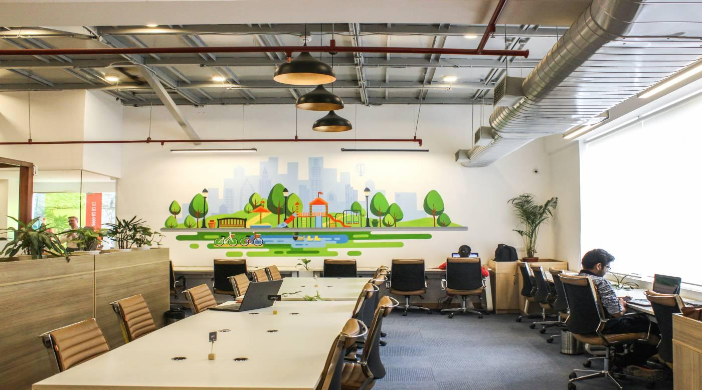 Seating Area @ The Office Pass, Coworking office, Cyber City, DLF 3, Gurgaon, Near Molsari Avenues Metro Station