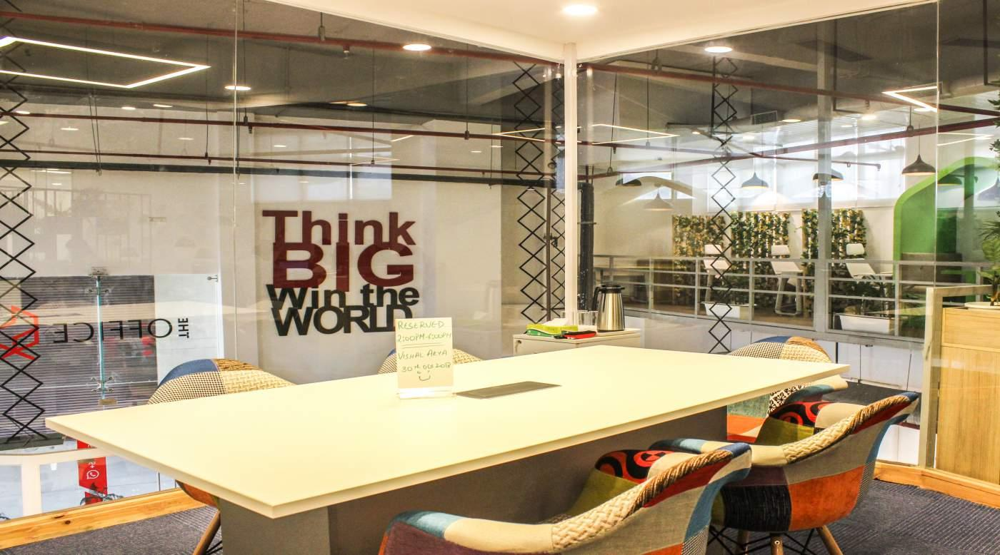 Meeting room @ The Office Pass, Coworking office, Cyber City, DLF 3, Gurgaon, Near Molsari Avenues Metro Station