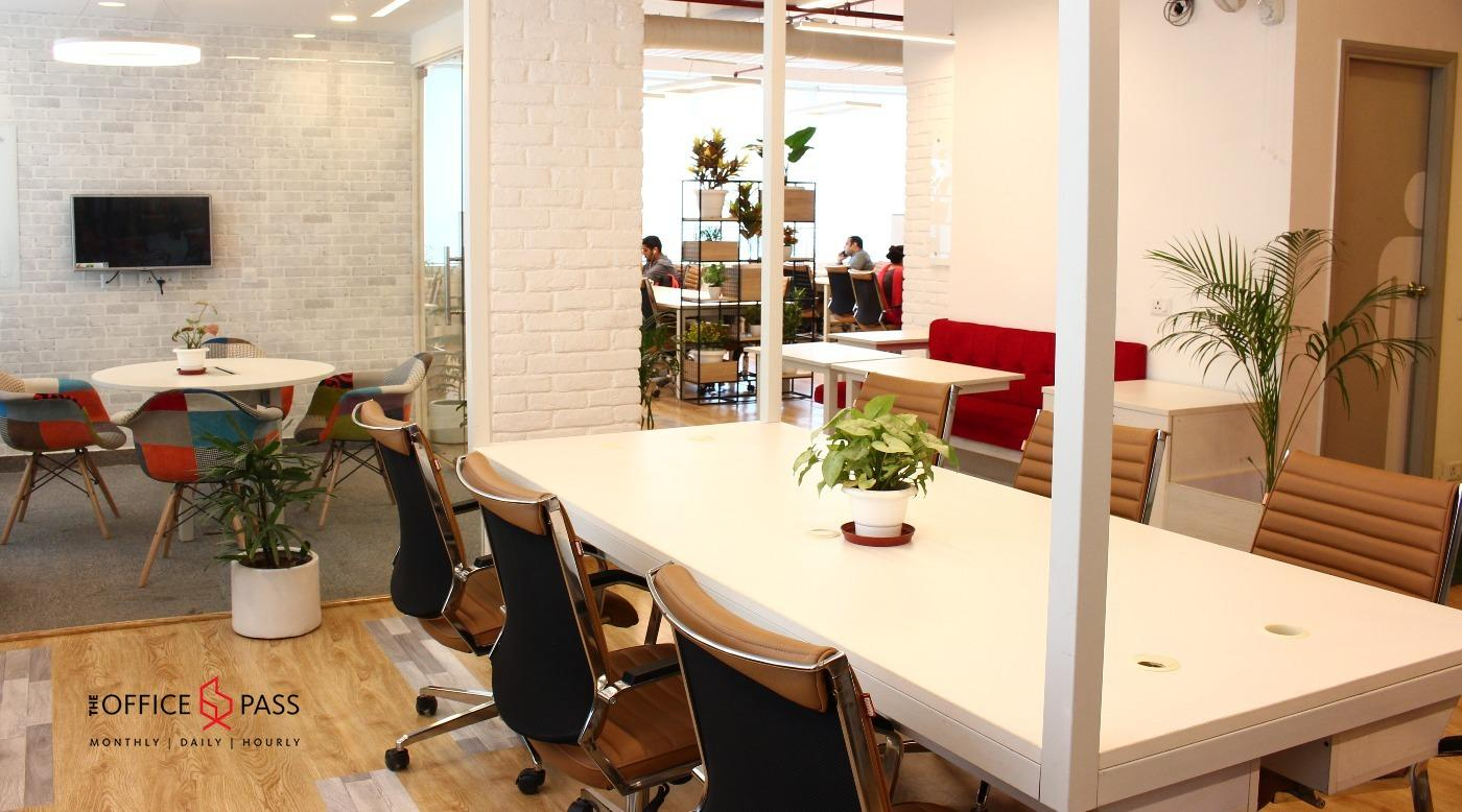 Member seating area, The Office Pass, Coworking space, New Gurgaon, near NH48