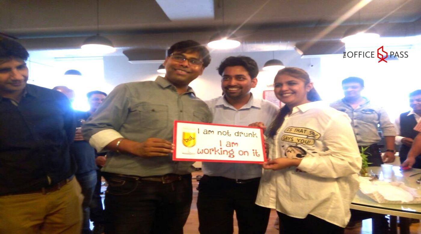 Members having fun @ The Office Pass (TOP), Sohna Road, Gurgaon